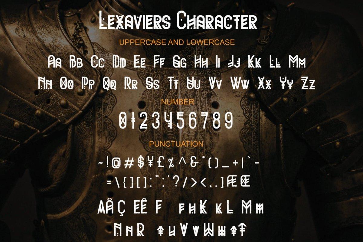 复古部落字符广告海报徽标logo设计装饰字体 Lexaviers插图3