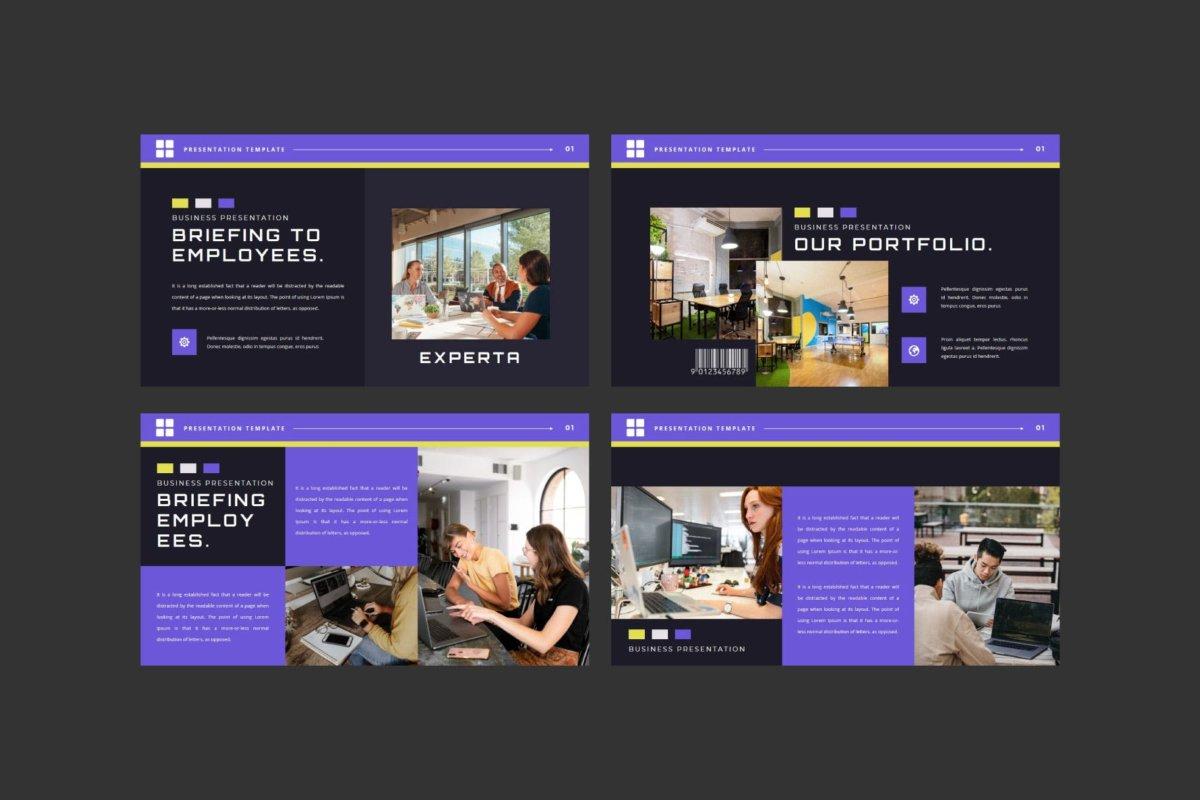 潮流企业营销策划提案简报演示文稿设计模板 EXPERTA Powerpoint Template插图3