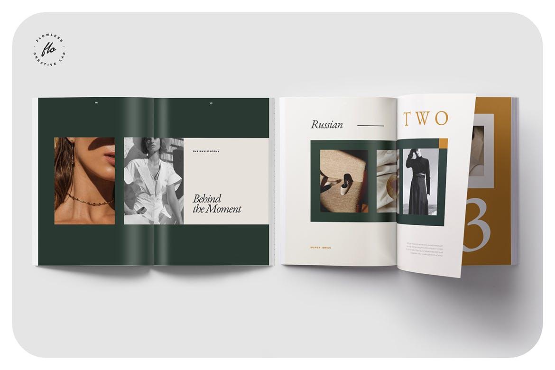 时尚简约摄影作品集设计INDD画册模板素材 Lonest Photography Portfolio插图3