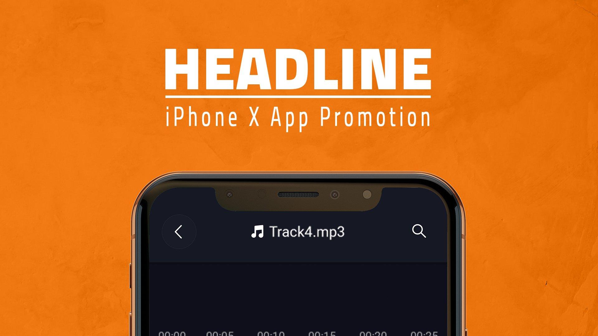 多角度APP界面设计苹果iPhone X手机屏幕演示样机模板 iPhone X App Promotion插图4