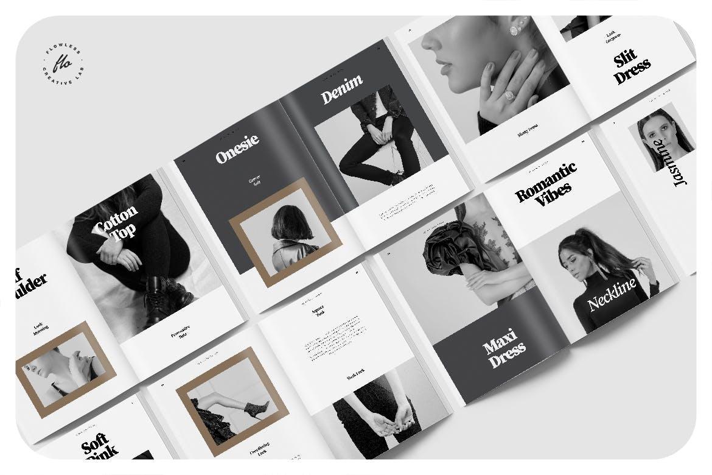 时尚服装设计作品集排版设计INDD画册模版 Litha Editorial Fashion Lookbook插图4