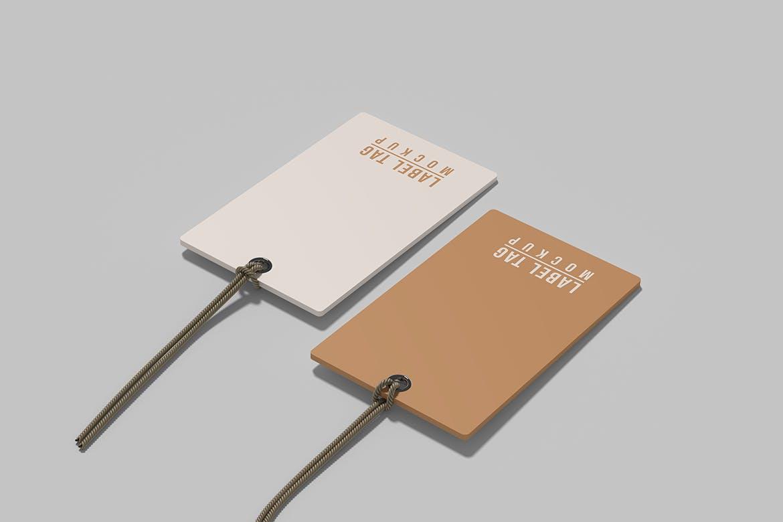 逼真服装标签吊牌设计展示贴图样机模板 Label Tag Mockup插图4