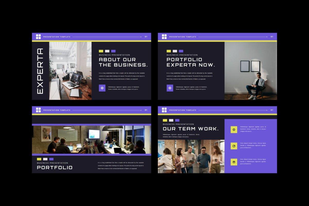 潮流企业营销策划提案简报演示文稿设计模板 EXPERTA Powerpoint Template插图4