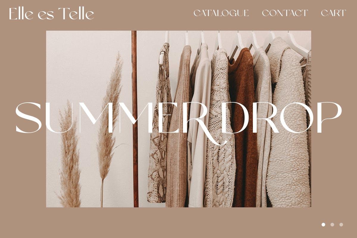 现代优雅奢华杂志海报标题品牌logo设计衬线英文字体 Anabele  Modern Stylish插图4