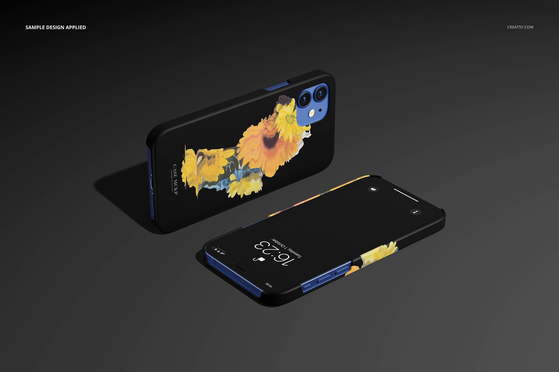 26款时尚磨砂iPhone 12手机保护壳外观设计PSD样机模板 iPhone 12 Matte Snap Case 1 Mockup插图13