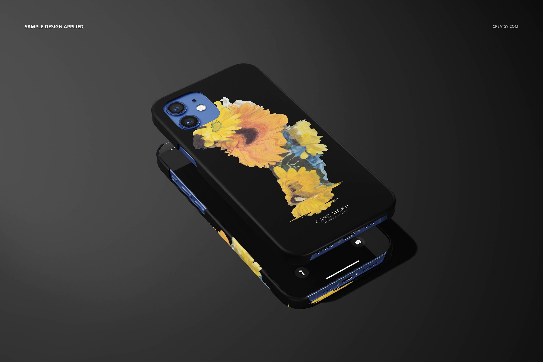 26款时尚磨砂iPhone 12手机保护壳外观设计PSD样机模板 iPhone 12 Matte Snap Case 1 Mockup插图18
