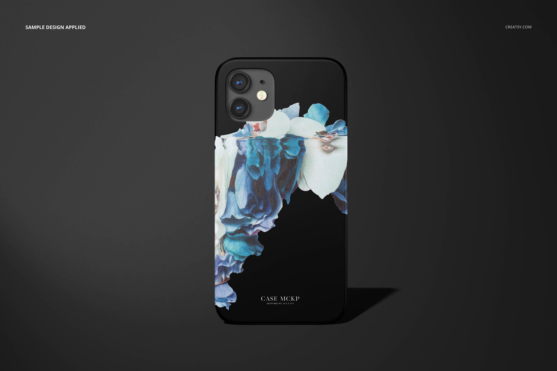 26款时尚磨砂iPhone 12手机保护壳外观设计PSD样机模板 iPhone 12 Matte Snap Case 1 Mockup插图24