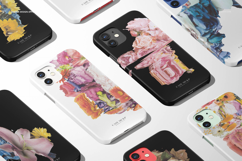 26款时尚磨砂iPhone 12手机保护壳外观设计PSD样机模板 iPhone 12 Matte Snap Case 1 Mockup插图25