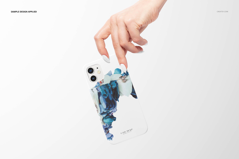 26款时尚磨砂iPhone 12手机保护壳外观设计PSD样机模板 iPhone 12 Matte Snap Case 1 Mockup插图29