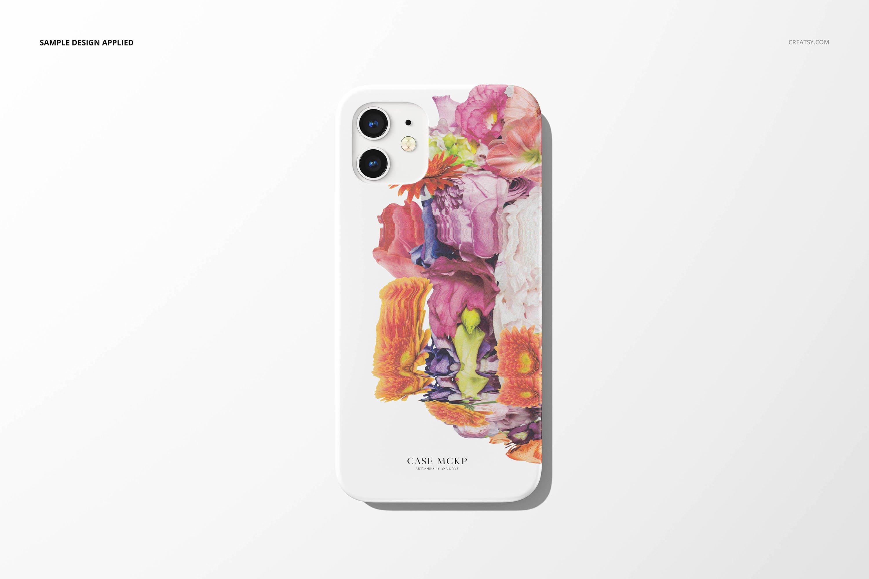26款时尚磨砂iPhone 12手机保护壳外观设计PSD样机模板 iPhone 12 Matte Snap Case 1 Mockup插图8