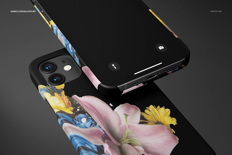 26款时尚磨砂iPhone 12手机保护壳外观设计PSD样机模板 iPhone 12 Matte Snap Case 1 Mockup插图9