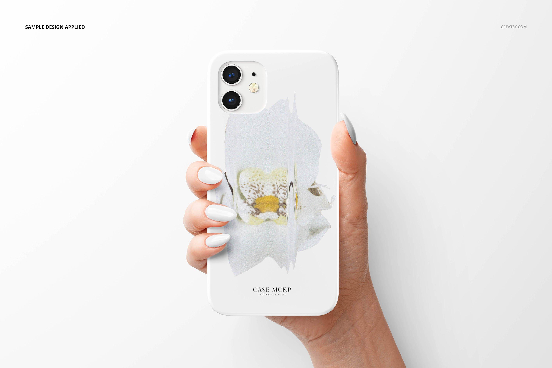 26款时尚磨砂iPhone 12手机保护壳外观设计PSD样机模板 iPhone 12 Matte Snap Case 1 Mockup插图12