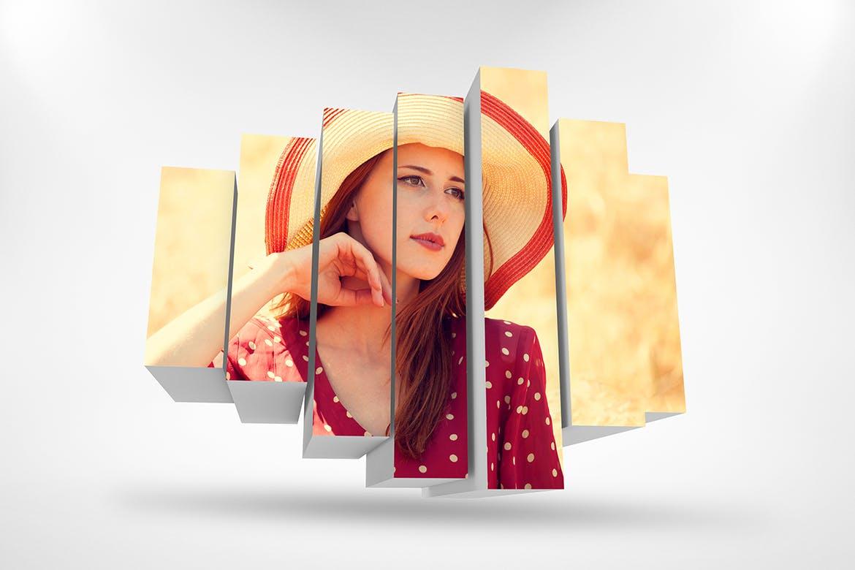 3D相框照片展示样机PSD模板素材 3D Photo Box Mockups Template V-8插图5