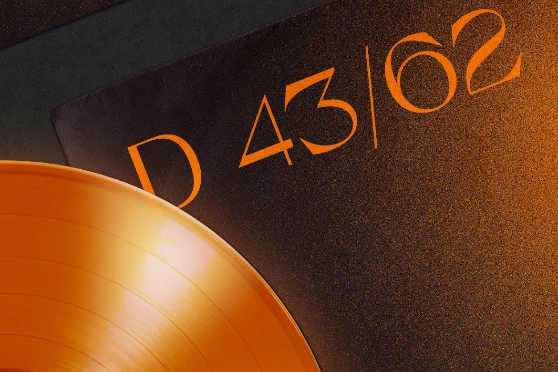 复古黑胶唱片包装袋设计PS贴图样机模板 Vinyl Record & Cover Mockup插图5