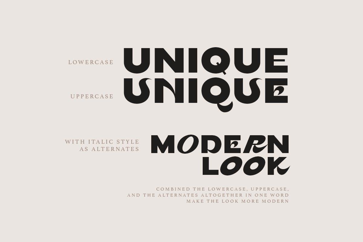 现代时尚杂志海报徽标logo设计无衬线英文字体 Persona – Trendy Bold Font插图5