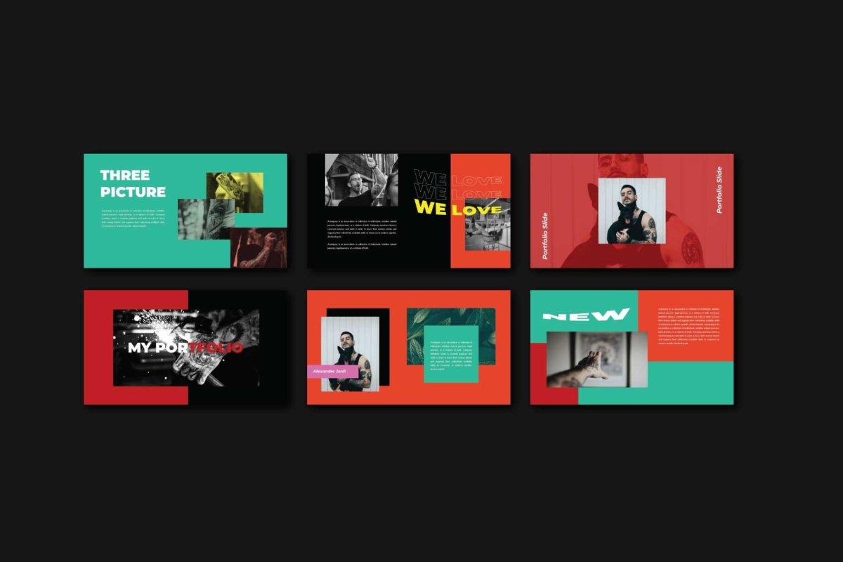 时尚炫彩服装作品集主题演讲设计Keynote 模版 Trance – Keynote Template插图5