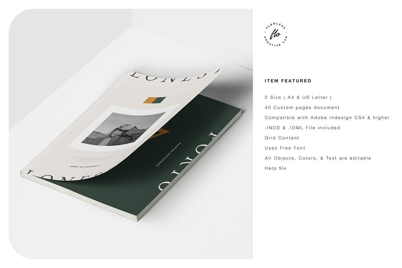 时尚简约摄影作品集设计INDD画册模板素材 Lonest Photography Portfolio插图5