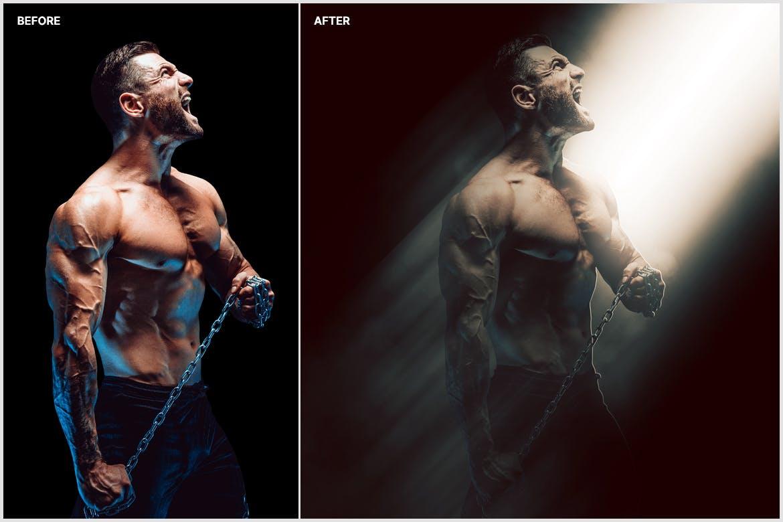 创意光影效果照片处理特效PS动作模版 Shadow & Light Photoshop Action插图5
