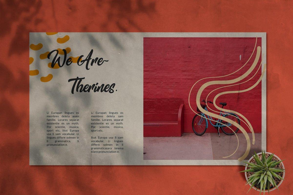 简约清新摄影作品集演示文稿设计ppt模板 Therines – Power point Template插图6