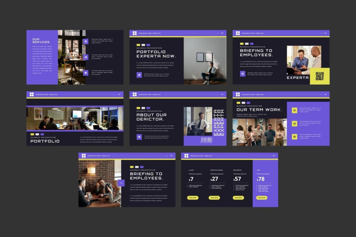潮流企业营销策划提案简报演示文稿设计模板 EXPERTA Powerpoint Template插图7
