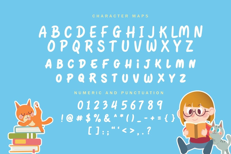 可爱卡通海报电影标题徽标Logo设计手写英文字体素材 Quantum Profit Font插图7