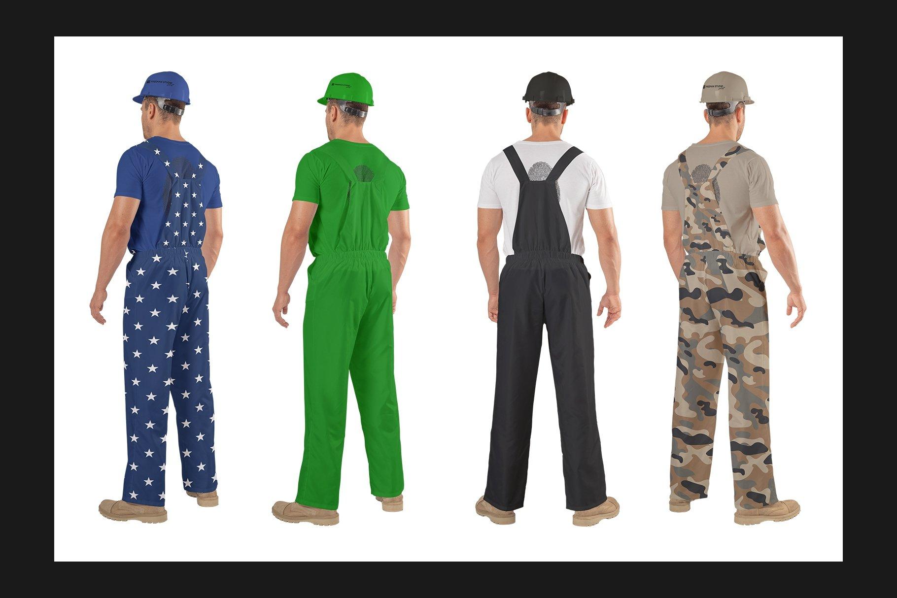 45个超大工装帽子安全帽品牌Logo设计智能贴图样机PSD模版素材 Working Overalls Suit Mock-Up Set插图7