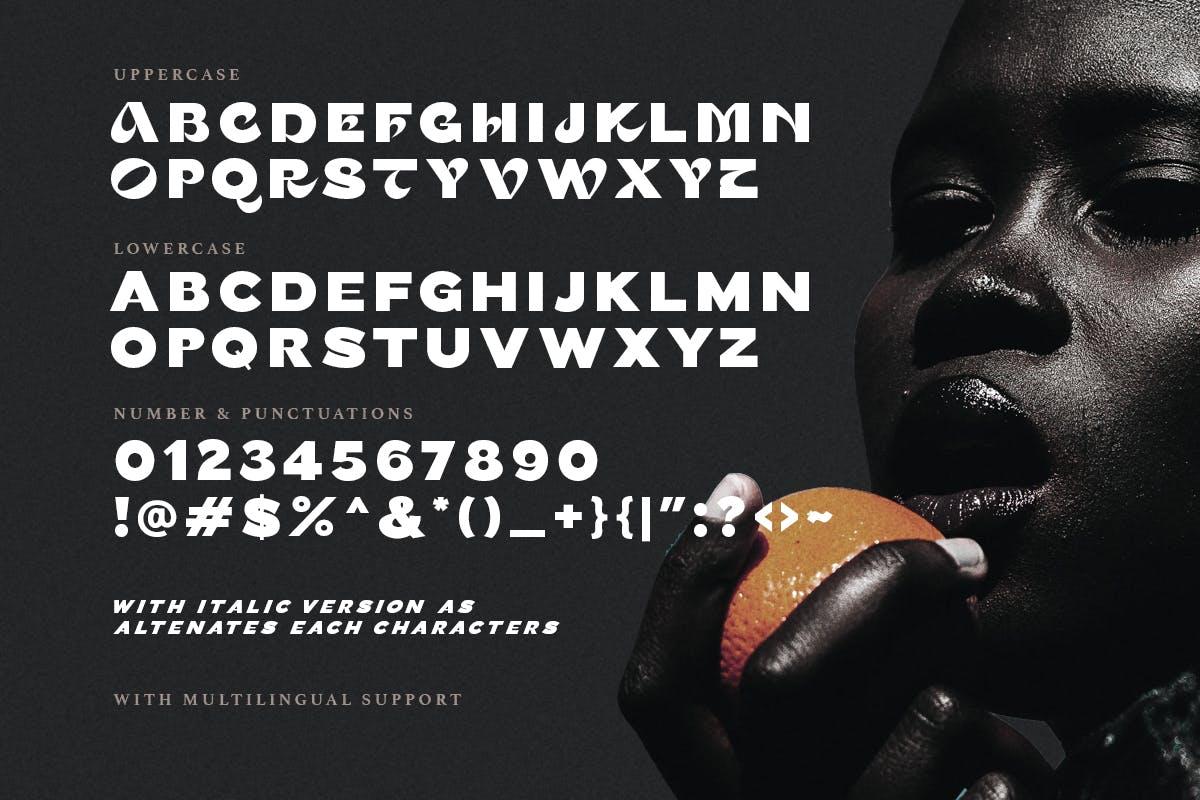 现代时尚杂志海报徽标logo设计无衬线英文字体 Persona – Trendy Bold Font插图8
