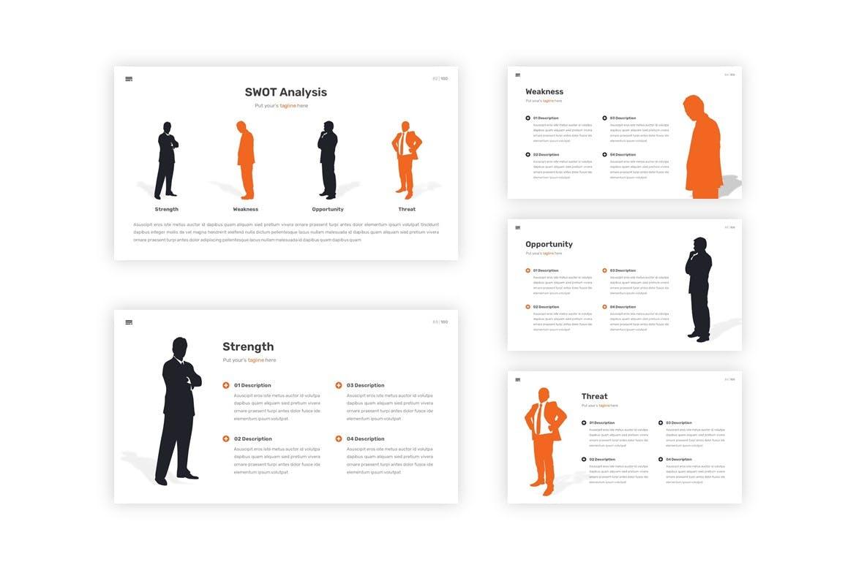 多用途黑白色系商业幻灯片模版 Behavior – Multipurpose Google Slides Template插图8
