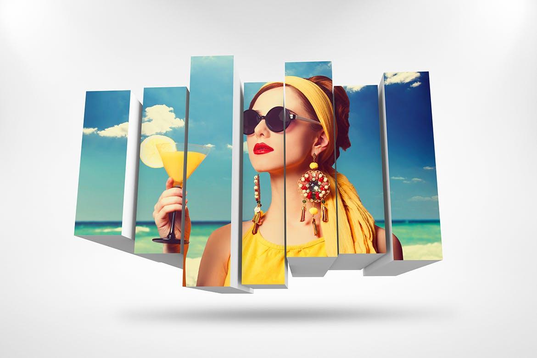 3D相框照片展示样机PSD模板素材 3D Photo Box Mockups Template V-8插图8