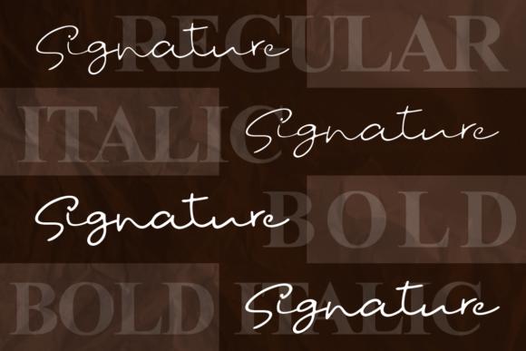 时尚优雅标题徽标Logo设计手写英文字体 Fostone Natural Signature Font插图1