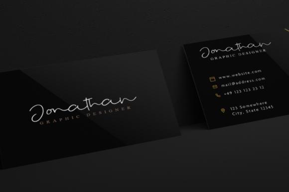时尚优雅标题徽标Logo设计手写英文字体 Fostone Natural Signature Font插图3