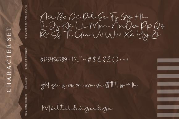 时尚优雅标题徽标Logo设计手写英文字体 Fostone Natural Signature Font插图6