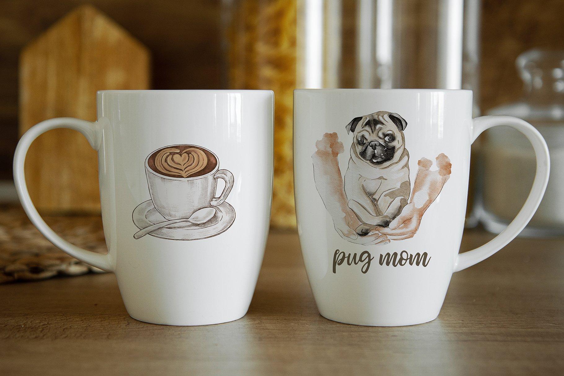 15个陶瓷马克咖啡杯印花图案设计展示贴图样机合集 Coffee Mug Mockup Set插图5