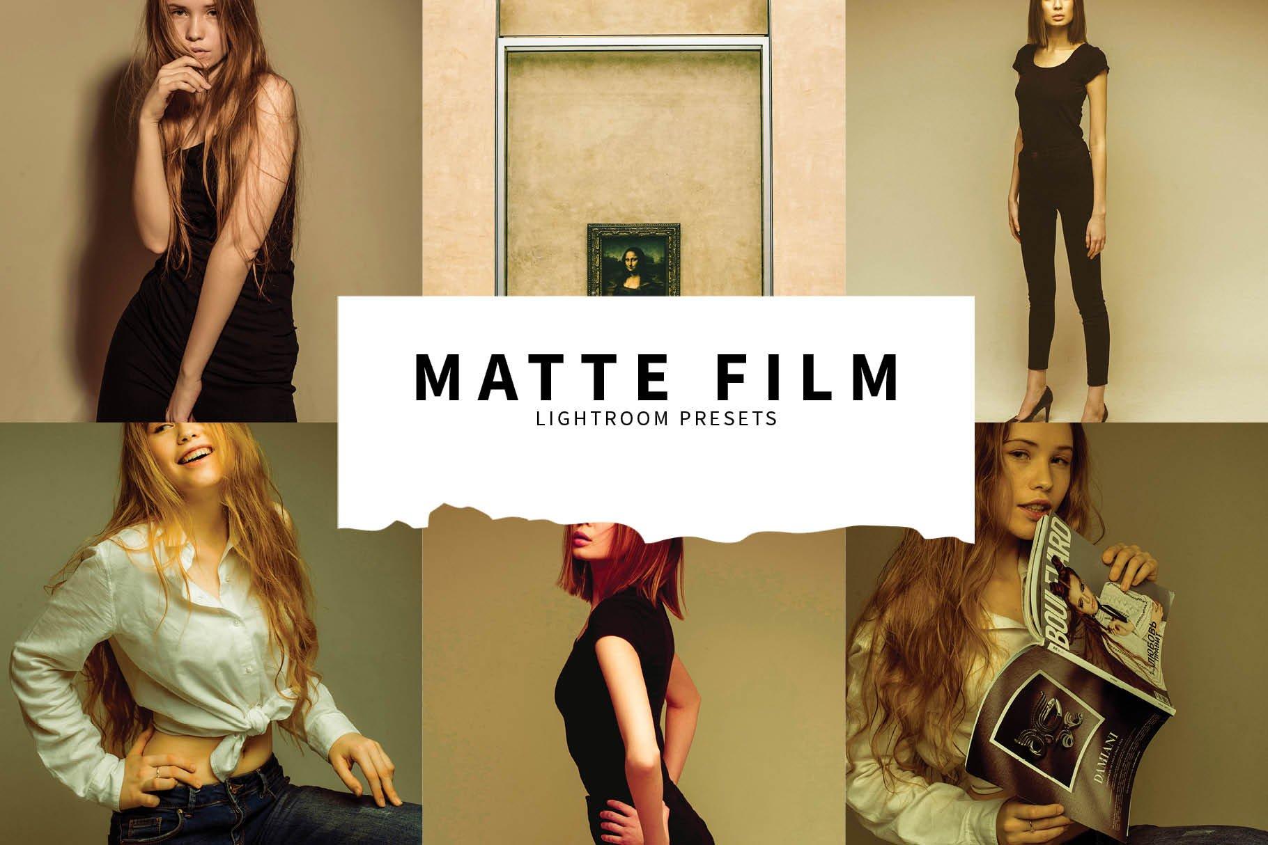 10个复古哑光人像摄影照片调色滤镜LR预设模板 10 Matte Film Lightroom Presets插图