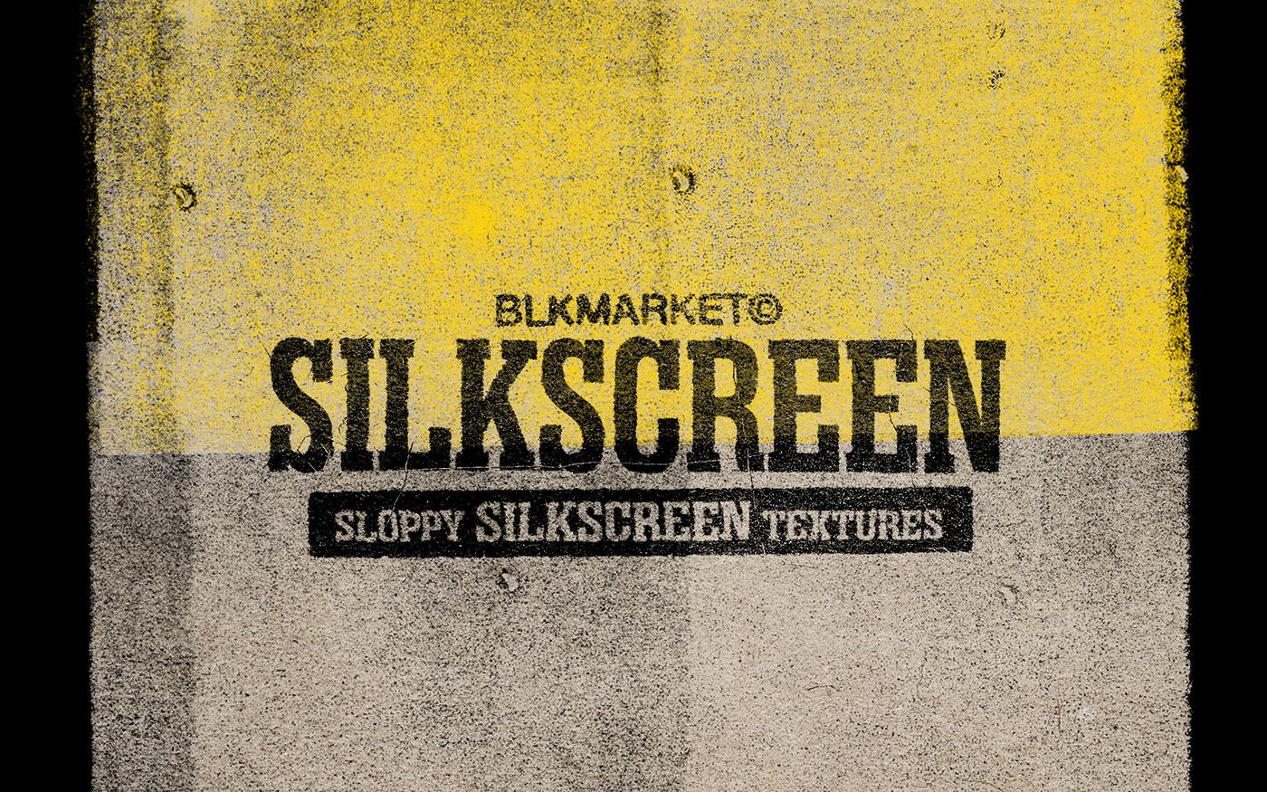 [单独购买] 潮流10K高清粗糙墨水丝印纹理海报设计PNG透明背景图片素材 Blkmarket – Silkscreen插图