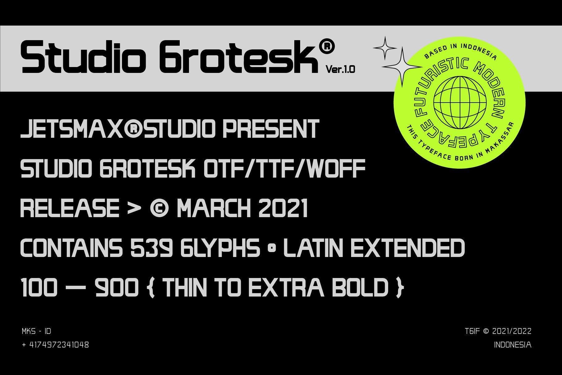 [单独购买] 潮流未来科技酸性艺术海报标题品牌Logo设计无衬线英文字体素材 Studio Grotesk Font插图1