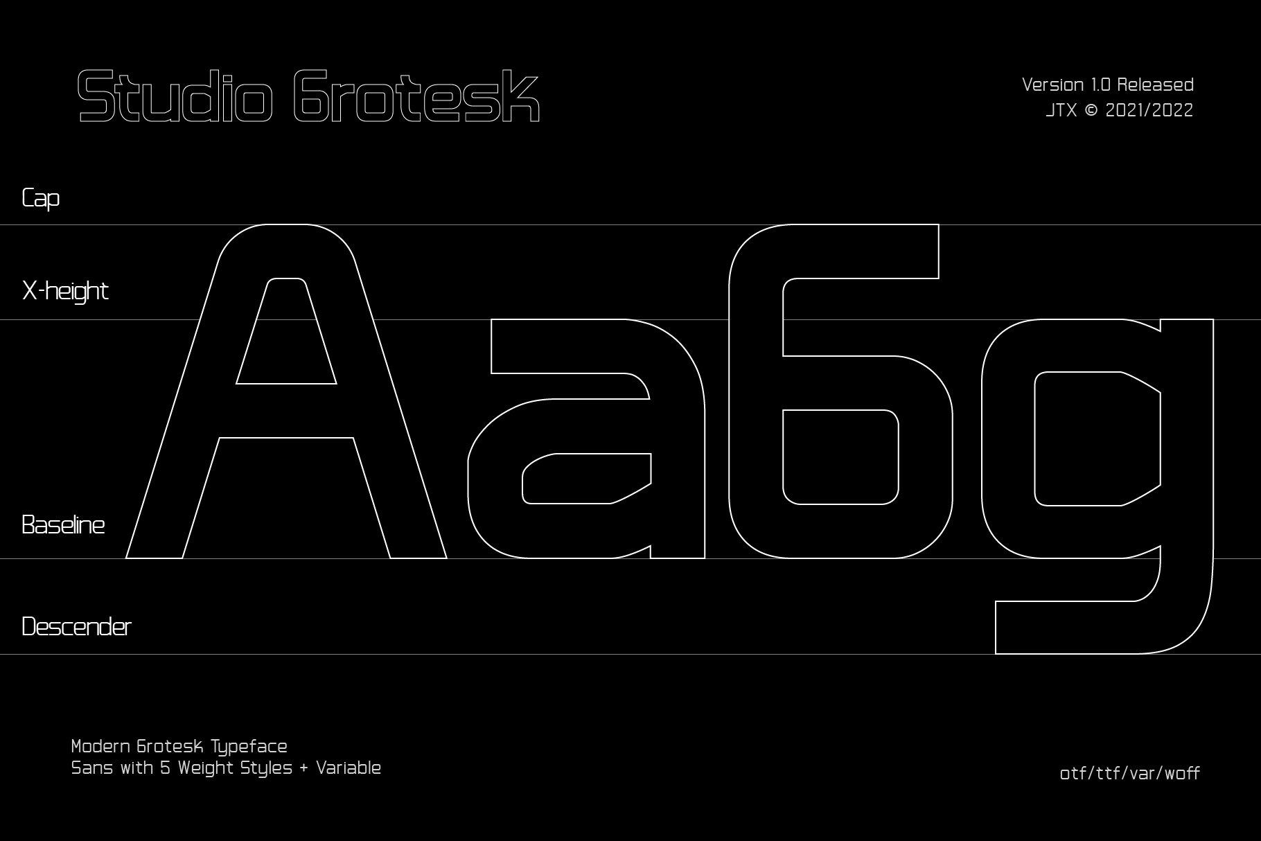 [单独购买] 潮流未来科技酸性艺术海报标题品牌Logo设计无衬线英文字体素材 Studio Grotesk Font插图2