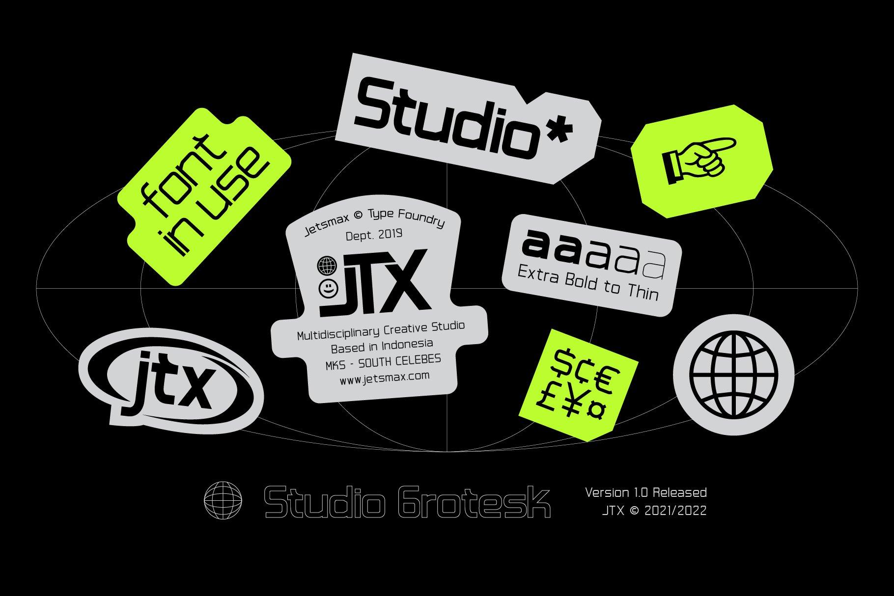 [单独购买] 潮流未来科技酸性艺术海报标题品牌Logo设计无衬线英文字体素材 Studio Grotesk Font插图8
