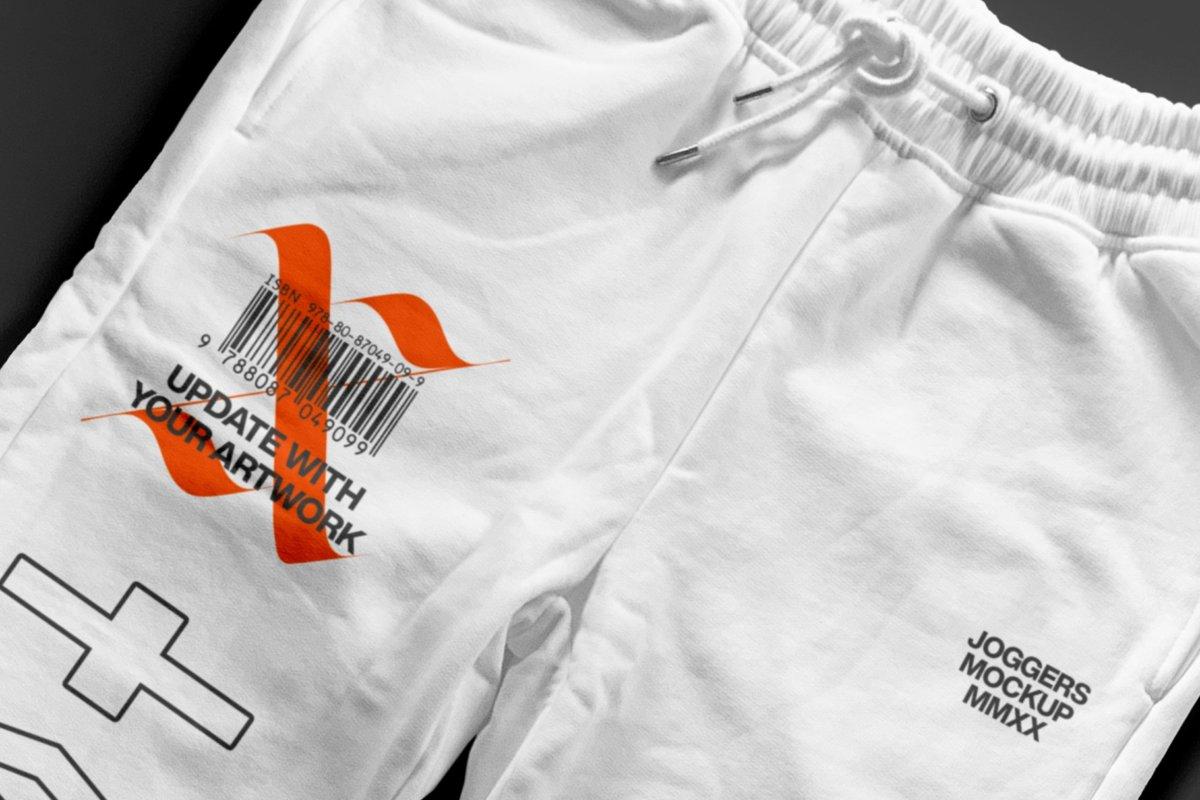 潮流跑步运动裤印花图案设计贴图样机套装 Sweatpants – Mockup Bundle插图3