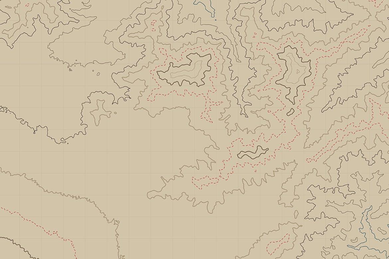 10款抽象地形图线条背景矢量设计素材 Topographic Map Backgrounds插图10