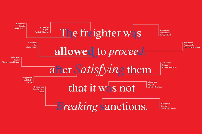 时尚复古海报标题徽标Logo设计衬线英文字体素材 BD Megalona | Text Serif Font Family插图11