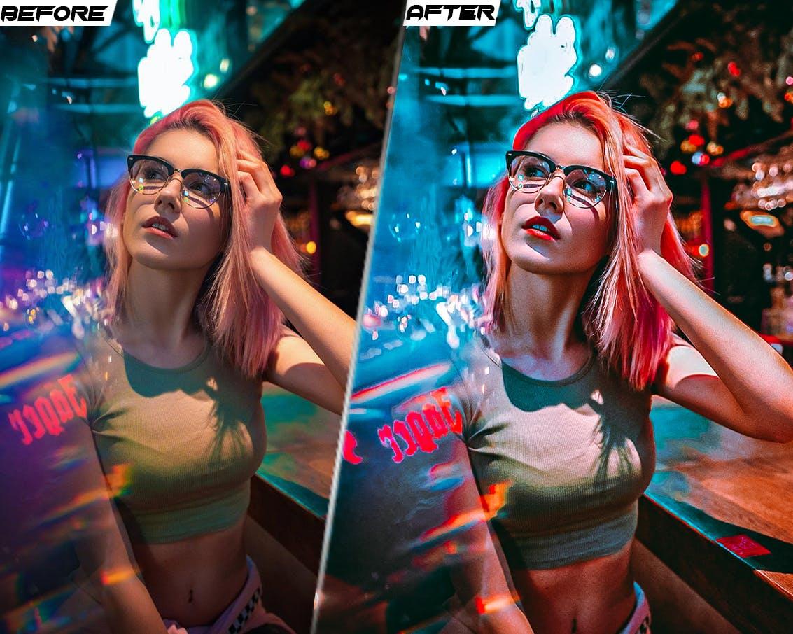 潮流赛博朋克风摄影照片调色滤镜LR预设模版 PRO Presets – V 31 – Photoshop & Lightroom插图1