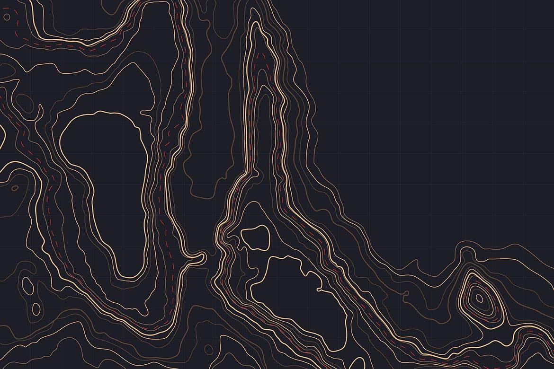 10款抽象地形图线条背景矢量设计素材 Topographic Map Backgrounds插图1