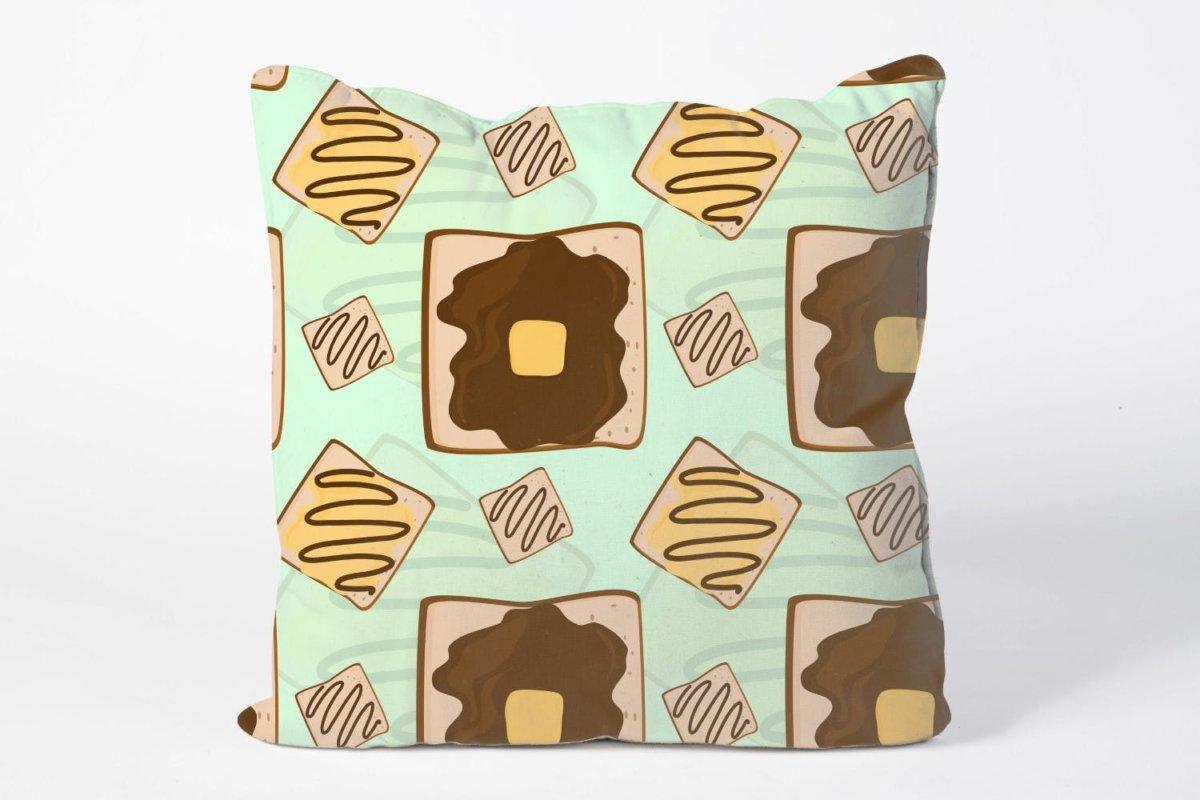 时尚三明治手绘插画PNG透明背景图片 Sandwich Seamless Pattern插图2