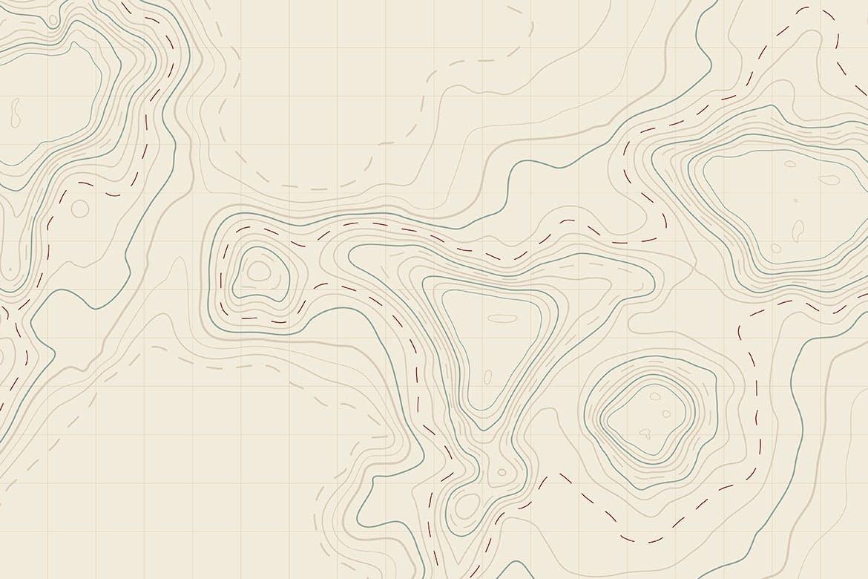 10款抽象地形图线条背景矢量设计素材 Topographic Map Backgrounds插图2