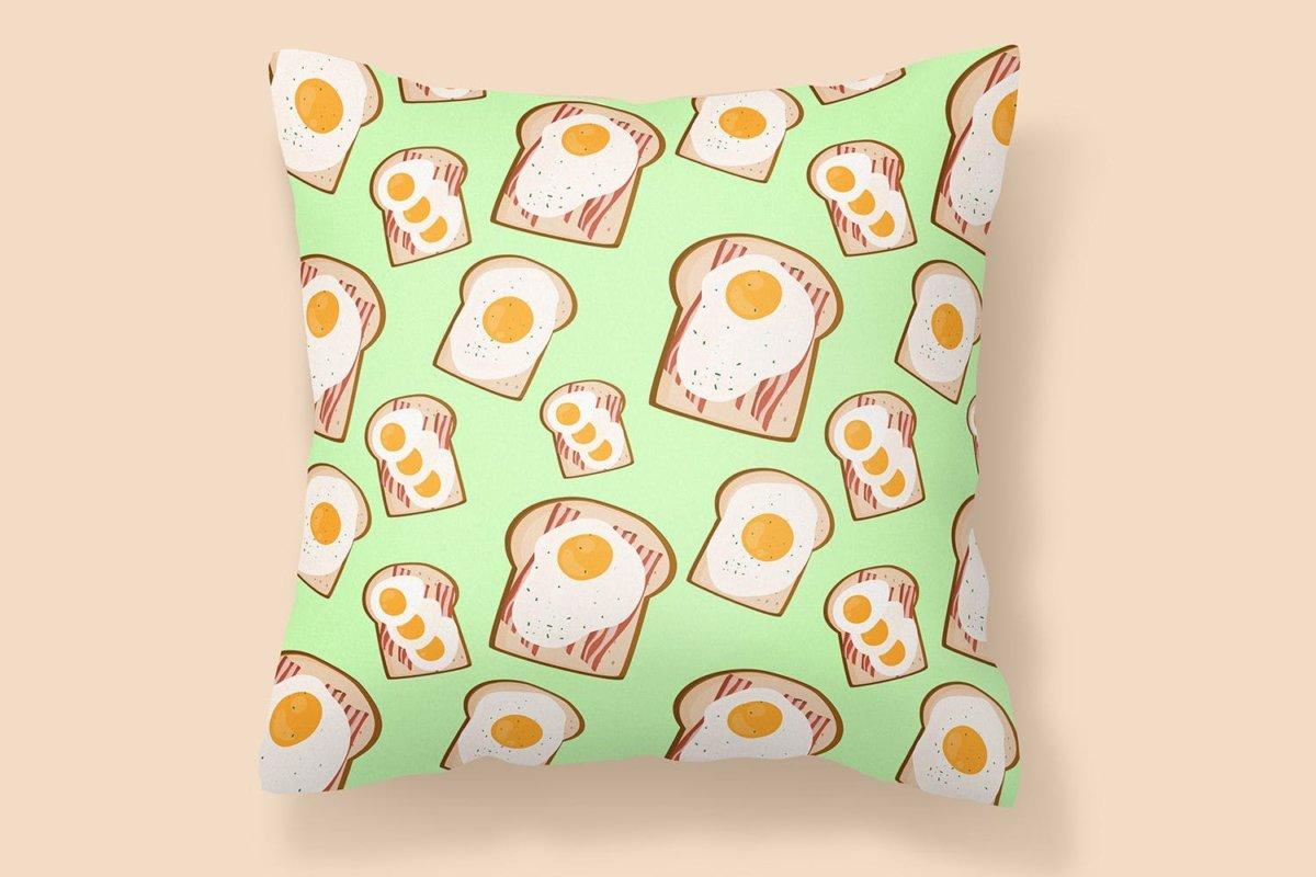 时尚三明治手绘插画PNG透明背景图片 Sandwich Seamless Pattern插图3