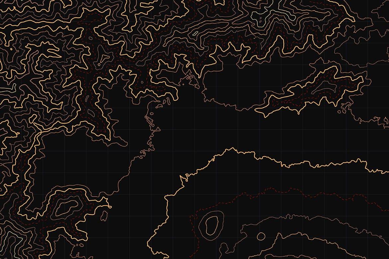 10款抽象地形图线条背景矢量设计素材 Topographic Map Backgrounds插图3