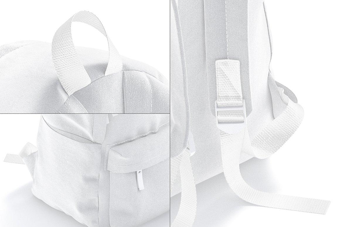 时尚女式背包印花图案设计贴图样机 Backpack Mockup插图4