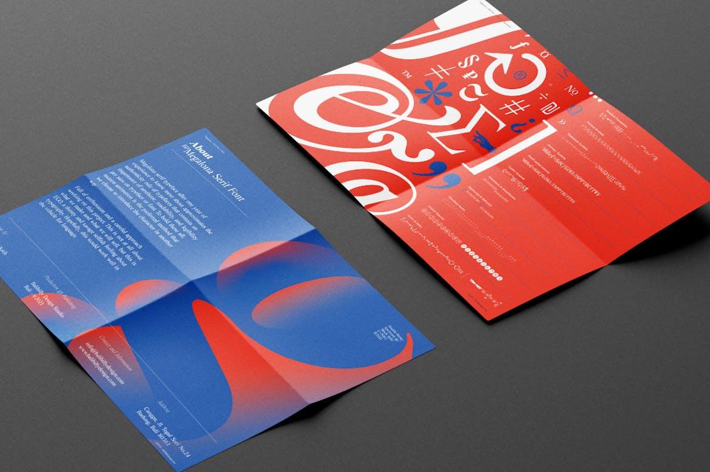 时尚复古海报标题徽标Logo设计衬线英文字体素材 BD Megalona | Text Serif Font Family插图4
