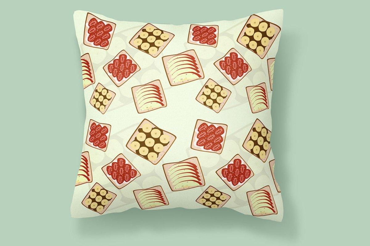 时尚三明治手绘插画PNG透明背景图片 Sandwich Seamless Pattern插图4